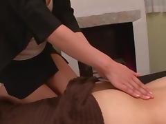 Saki Kouzai hot milf gives happy ending massage