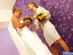 Bride, Adorable, Babe, Blonde, Bride, Bukkake