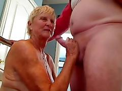 Grandma sucks cock to grandpa tube porn video