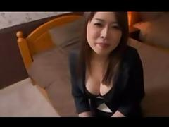 beautiful Japanese milf blows her lover