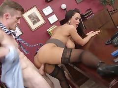Smashing office fuck with busty Lisa Ann