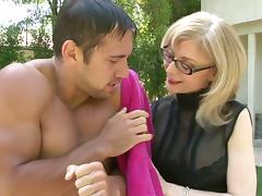 Lovely Nina Hartley Treats A Big Cock A Hardcore Blowjob