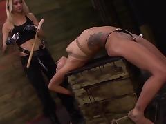 Dirty BDSM porn between horny lesbians