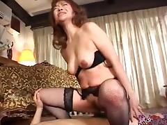Asian Old and Young, Asian, Japanese, Mature, Mom, Stockings