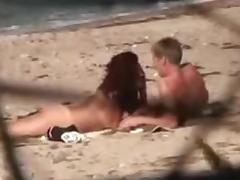 Lascivious Dilettante Pair Secretly Filmed Having Sex On Beach