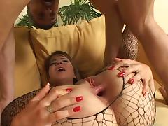 Cute chick wearing bodystocking gets her bumhole nicely banged tube porn video
