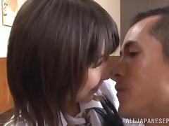Wild orgy with Japanese AV model in a short skirt tube porn video