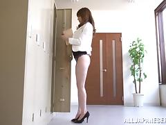 Sexy Office Girl In Miniskirt Makes Her Boss crazy