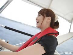 Captivating Asian milf Akiho Yoshizawa enjoys outdoor POV blowjob tube porn video