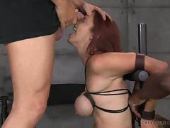 bella gets her boobs tightly bound