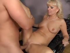 Mature blonde fucking