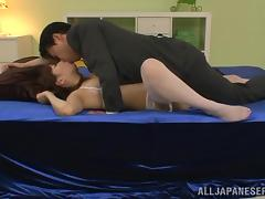 Gorgeous Japanese Cowgirl Gets Banged Doggystyle After Fingering tube porn video