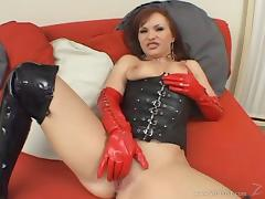 Katja Kassin gets her cunt and bumhole banged in leather fetish vid tube porn video