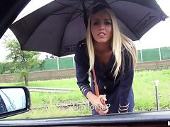 Babe, Babe, Blonde, Blowjob, Car, Couple