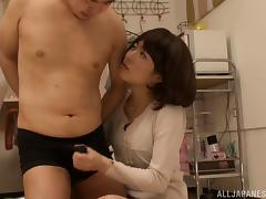 japanese beauty gets drilled hardcore after blowjob in office