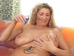 Hardcore sex video with tattooed BBW Claudia wearing stockings