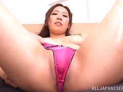 Pretty Asian girl with beautiful natural tits enjoying a hardcore anal fuck