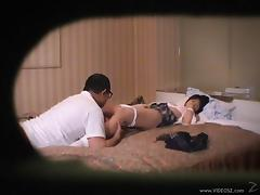 Asian lovely hottie Rita Katano rides a hard dick caught on camera