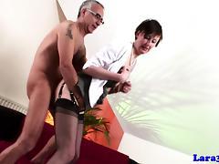 Stockings wearing british milf pounded tube porn video
