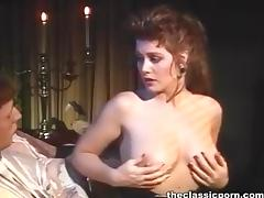 Oral seduction from the busty girl