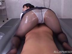 Duly answer Japanese ass in pantyhose tempting