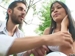 Nacho Vidal and his buddy seduce hot Latina July and fuck her