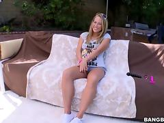 Carter Cruise toys her butt and enjoys anal sex on the poolside