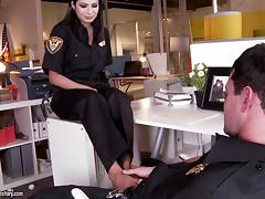 Miya Stone in police uniform fucks colleague hardcore