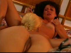 Hot shaved pussy lezzies in a hardcore lesbian adventure
