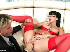 Busty hot ass chick Aletta Ocean treats cock a hardcore blowjob