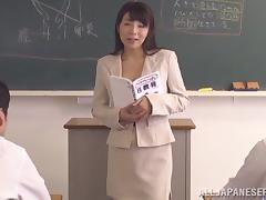 Japanese hot ass teacher Kimika Ichijou gets nasty for a hot fuck tube porn video