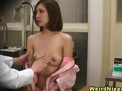 Asian babes small tits checked by doctor