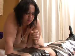 BBW Latina Femdom does Handjob and Facessitng porn tube video
