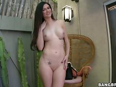 Kendall Karson sucks a dildo while getting her pussy pounded hard porn tube video