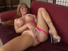 Fair-haired milf Darla Crane seduces and fucks Mark Wood porn tube video