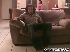 Brunette chick with small tits gets fucked every which way