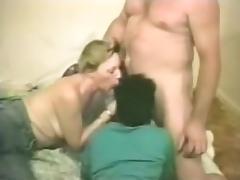 A lucky guy enjoying a threesome