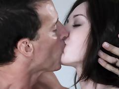 Hairy pussy porn hottie gets a hardcore fuck lesson