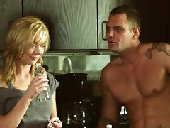 Kayden Kross gets teased in a naughty and hardcore kitchen banging
