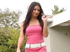 Ann Marie Rios outdoor handjob tube porn video