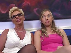 MILF, Audition, Blonde, Casting, Ffm, Glasses