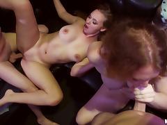 Nicki Blue, Ryan Grey and Tiffany Kohl enjoy group sex at a party