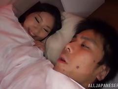 Captivating Japanese wife moaning in ecstasy as she gets humped