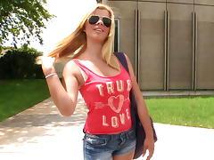 Brazilian model on BangBus tube porn video