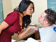 Mika Tan & John Espizedo in My First Sex Teacher tube porn video