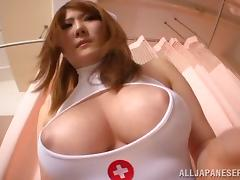 Asian nurse with a hot ass getting her wet pussy fingered
