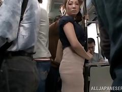 Japanese, Asian, Bus, Fingering, Japanese, MILF