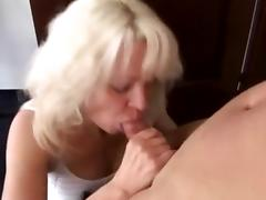 Horny Blonde Momma Fucks Young Peeping Tom