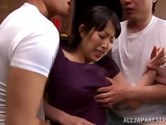 Mom and Boy, Asian, Babe, Blowjob, Cum, Cumshot