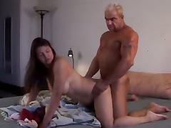 Busty MILF sitting on hard dick